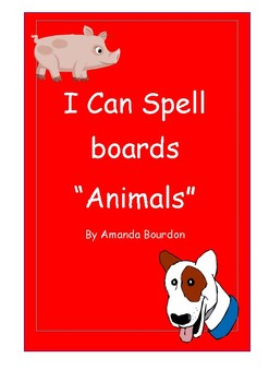I Can Spell board - Animals