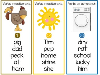 I Can Spot the Verb - A Scoot Game