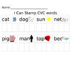 I Can Stamp CVC words