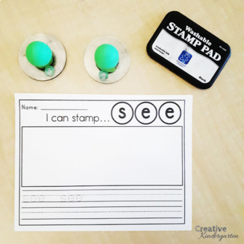 I Can Stamp Sight Words Literacy Activity for Kindergarten