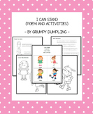 I Can Stand - Poem with Activities