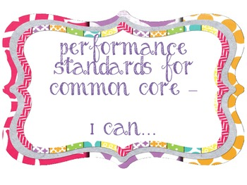 I Can Standards Cards