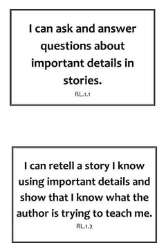I Can Statement - 1st Grade RL - RI - W (Literature, Informational, and Writing)