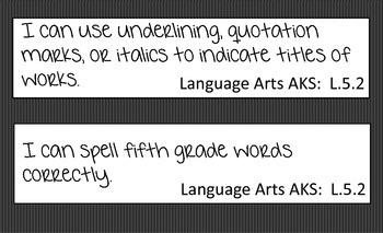 Language Arts -I Can Statement AKS (GCP)