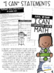 I Can Statement Booklet {First Grade}