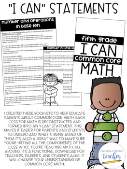 I Can Statement Booklets {Sixth Grade}