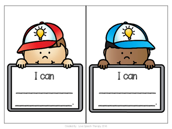 """I Can"" Kid Statement Cards for Student Goal Setting"