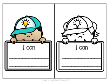 """""""I Can"""" Kid Statement Cards for Student Goal Setting"""