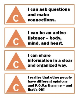 I Can Statements - Communication