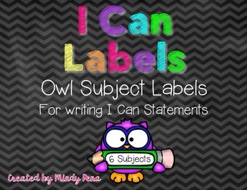 I Can Statement Labels {Owls}