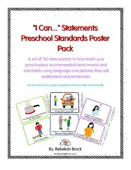 """I Can..."" Statement Poster Pack for Preschool: 150 Posters to Teach Common Core"
