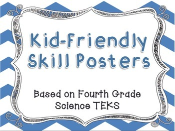 I Can Statement Posters - Fourth Grade Science TEKS