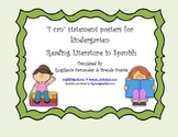 I Can Statement Posters - Spanish