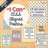 """""""I Can"""" Statement Posters for Speech Language Therapy - Patterns"""