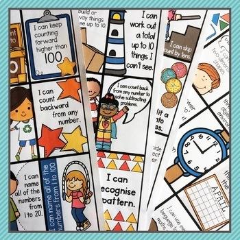 I Can Statement Success Tags Kindergarten Maths