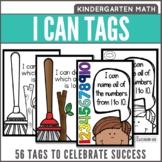 I Can Statement Success Tags Kindergarten Math