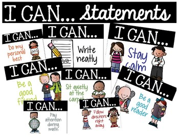 I Can...Statements - Classroom Management Tool