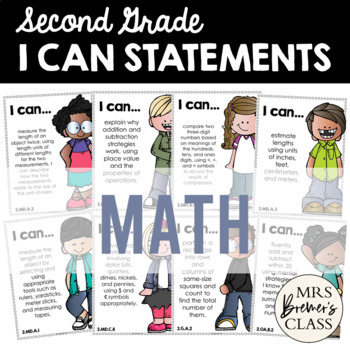I Can Statements {Math} Second Grade