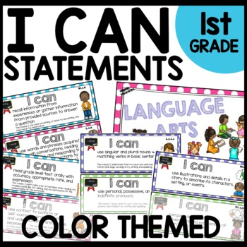 I Can Statements 1st Grade (POLKA DOT THEMED)