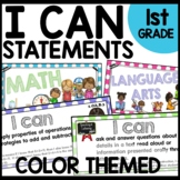 I Can Statements 1st Grade Polka Dot Classroom Theme Decor
