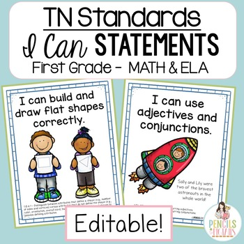 I Can Statements-1st Grade ELA & MATH- Tennessee Academic Standards