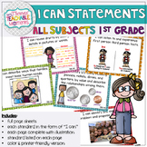 1st Grade TEKS I Can Statements All Subjects