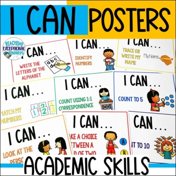 "Special Education ""I Can"" Academic Skill Statements"