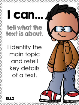I Can Statements {ELA} First Grade