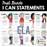 I Can Statements First Grade ELA
