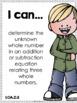 I Can Statements {Math} First Grade