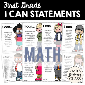 I Can Statements {Math} First Grade