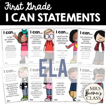 I Can Statements Bundle {Math & ELA} First Grade