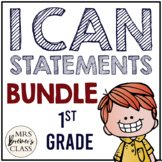 I Can Statements Bundle First Grade Math & ELA