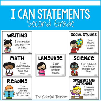 I Can Statements for 2nd Grade: Editable