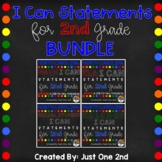 I Can Statements 2nd Grade BUNDLE