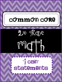 I Can Statements {2nd Grade} {Common Core}