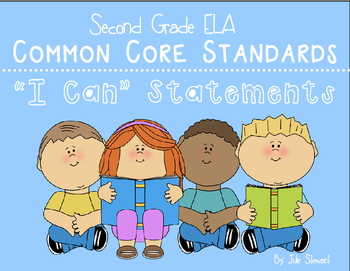 I Can Statements 2nd Grade- ELA