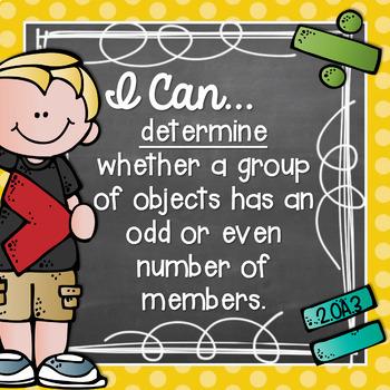 I Can Statements 2nd Grade MATH {Editable} - Chalkboard & Polka Dot