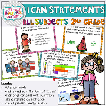 I Can Statements 2nd Grade TEKS All Subjects
