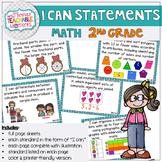 2nd Grade TEKS I Can Statements Math