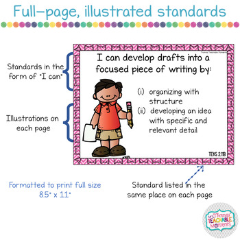 I Can Statements 2nd Grade TEKS Writing