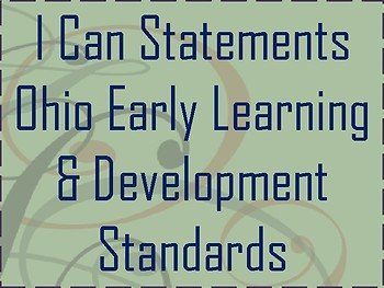 I Can Statements for Ohio ELDS