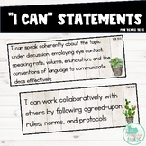 I Can Statements 3rd Grade ELAR