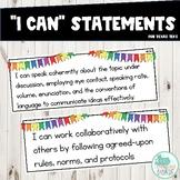 I Can Statements 3rd Grade ELAR