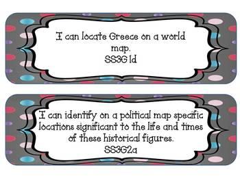 I Can Statements 3rd Grade GA Social Studies