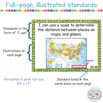 I Can Statements 3rd Grade TEKS Bundle All Subjects
