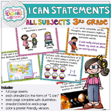 3rd Grade TEKS I Can Statements Bundle All Subjects