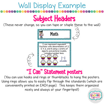 I Can Statements 3rd Grade TEKS Math