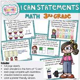 3rd Grade TEKS I Can Statements Math