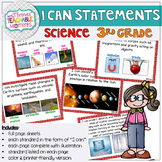 3rd Grade TEKS I Can Statements Science